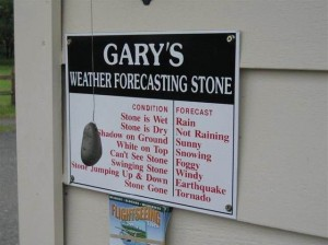 Gary Weather Forcasting Stone
